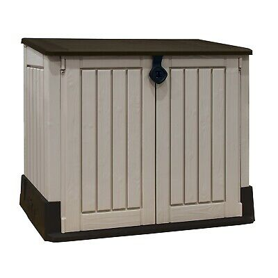 Pre-Built Keter Store-it-Out Midi Outdoor Garden Storage Shed 845L *H damage S5