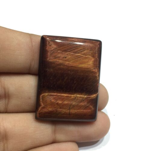 Natural Red Tiger Eye Gemstone Cab Top Quality Baguette Shape 58 Cts UNE-5