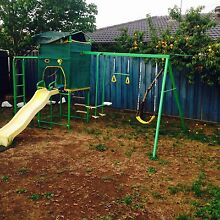 Kids swing set monkey bar slide basket ball and cubby Taylors Lakes Brimbank Area Preview