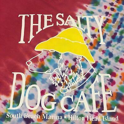 The Salty Dog Cafe Tye Dye Large T-Shirt Hilton Head Island S Carolina Seafood
