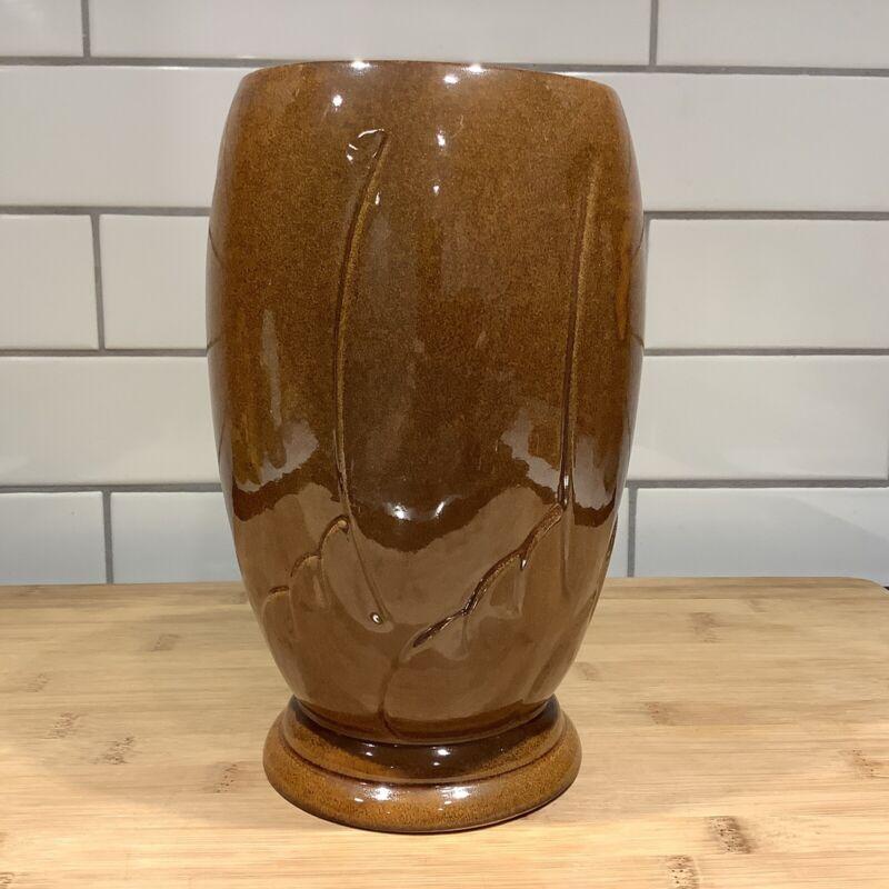 Frankoma #75 Round Carved Vase