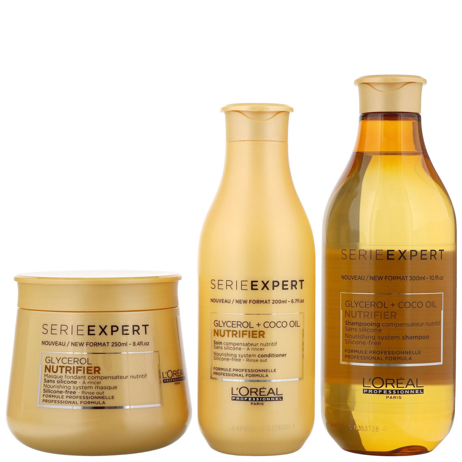 Details about L'Oreal Nutrifier Shampoo, Conditioner, Mask & Heat  Protection Cream