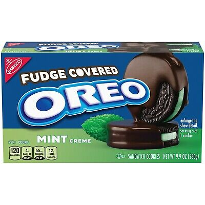 - NEW Nabisco Oreo Fudge Covered Mint Chocolate Sandwich Cookies FREE SHIPPING