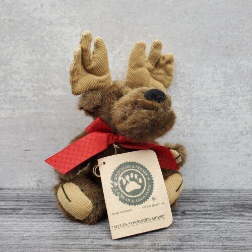 Retired Boyds Bears Friends Myles Vonhinden Moose Plush Jointed 7 Doll Toy - $12.28