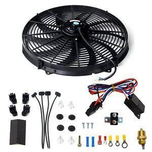 electric fan wiring kit ebay rh ebay com Electric Radiator Fan Wiring Electric Cooling Fan Kit