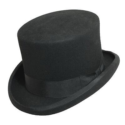 Mens Scala Fine Qualtiy Wool Felt Top Hat WF569