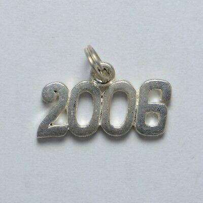 2006 Sterling Silver Charm (J1083) 2006 Sterling Silver Charm