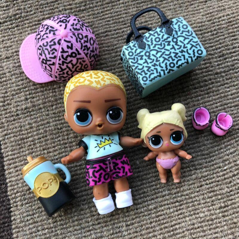LOL Surprise Doll DJ Doll /& Lil Sister /& D.J.K.T Pet Family Hip Hop Club Doll
