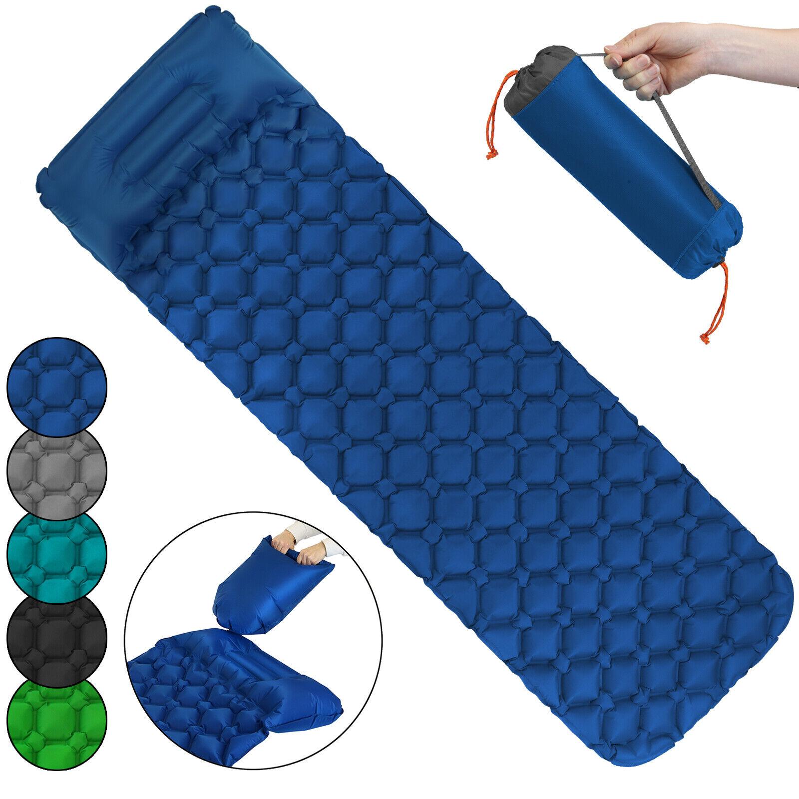Leichte Isomatte Camping Luftmatraze aufblasbar + Kissen Luftsack zum Aufpumpen