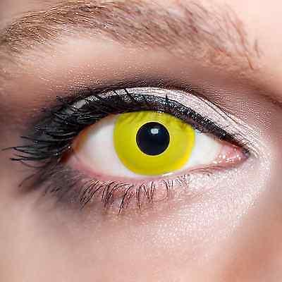 n mit Behälter -Halloween- Vampir, farbige Jahreslinsen;K517 (Gelbe Kontaktlinsen Halloween)
