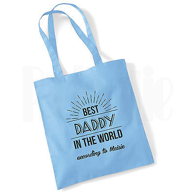 Personalised Baby Changing Nappy Tote Bag 'Best Daddy' GIFT FOR NEW DAD &