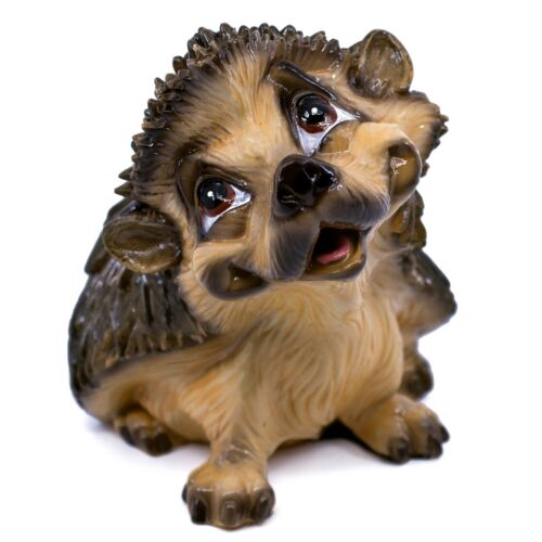 "Little Paws ""Henry"" Hedgehog Figurine Ceramistone Statue 4.5"" Long New!"