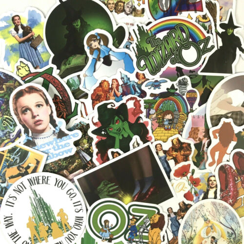 50pc Wizard of Oz Notebook Laptop Envelope Sealer Craft Decal Sticker Pack