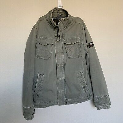 Superdry Men's Military Jacket Green Large