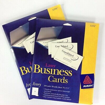Avery Laser Business Cards Heavyweight 2 X 3.5 Ivory 250pack New Lot Of 2