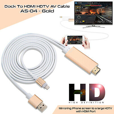 Lightning to Digital AV TV HDMI Cable Adapter 1080P For iPad Pro iPhone X XR US