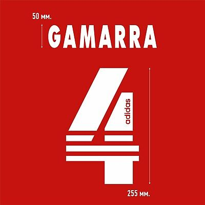 Gamarra 4. Benfica Home football shirt 1997 - 1998 FLOCK NAMESET NAME SET image