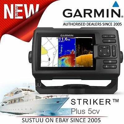 Garmin STRIKER Plus 5cv 5'' GPS Fish Finder CHIRP sonar ClearVü IPX7 For Marine