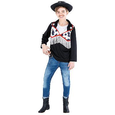 Jungenkostüm Cowboy Hemd Sheriff Western Wilder Westen Fasching Karneval Kinder