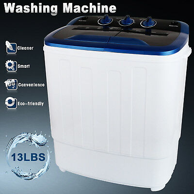 13LBS Mini Compact Portable Washing Machine Twin Tub Laundry Washer Spin Dryer