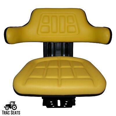 Yellow John Deere 1020 1530 2020 2030 Tractor Waffle Suspension Seat