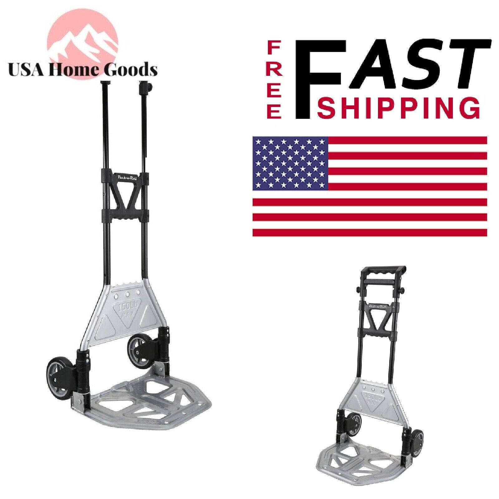 Olympia Tools 85-609 Folding Cart With Toe Plate, 15-1/4 in