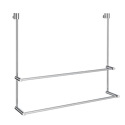 """Orren Ellis Witcher No Drill Double 23.62"""" Towel Bar for Glass Shower Door"""