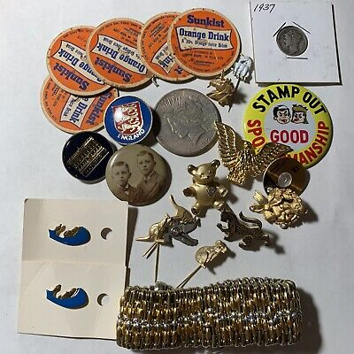 COOL BEANS MINI-JUNK DRAWER: Small Lot + 1922S 90% Silver Peace $ MORE  01-193