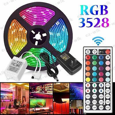 16FT 300 LED RGB Flexible Strip Light SMD3528 Decorative Fairy Light Room TV Bar