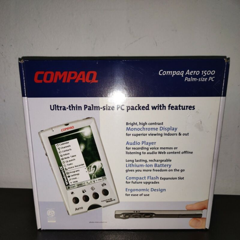 NEW Vintage Compaq Aero 1500 1520 Palm Size PC Tablet