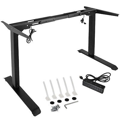 Electric Stand Up Desk Frame Wdual Motor Height Adjustable Standing Office Base