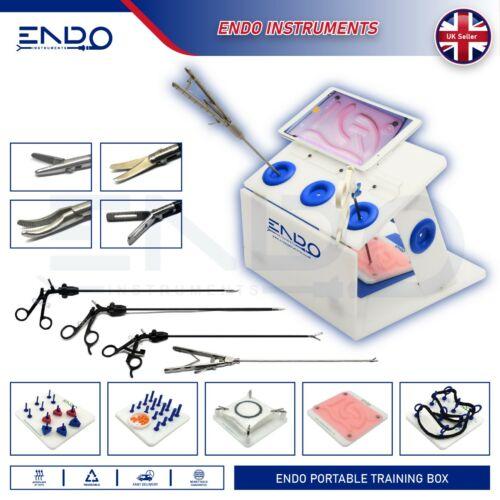 ENDO® Portable Laparoscopic Training Box Laparoscopy Trainer Practice Simulator