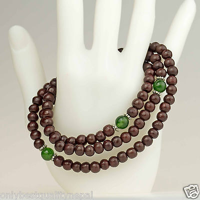 Mala Class Jade Rosewood Necklace Wood Jewelry Bracelet 23