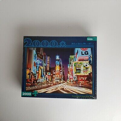 New York Times Square 2000 Piece Puzzle by Buffalo Games New Sealed 38.5 x - Buffalo Games Times Square