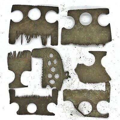 Authentic Ancient Roman And Medieval European Comb Fragments - Brass Old Relics