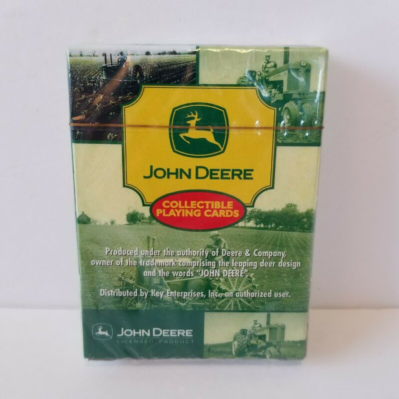 John Deere Collectible Playing Cards Tractors Farming Combine Corn New Sealed