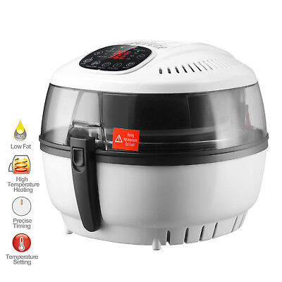 7.4 Qt Electric No Oil Air Fryer Digital Touch Screen Temperature Timer Control