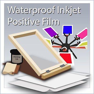 Waterproof Inkjet Transparency Film 8.5 X 11 100 Sheets