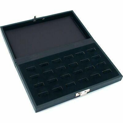 24 Ring Jewelry Display Tray Case Wide Slot Storage Box New 8 34 X 5 38