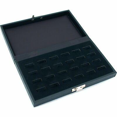 "24 Ring Jewelry Display Tray Case Wide Slot Storage Box New 8 3/4"" x 5 3/8"""