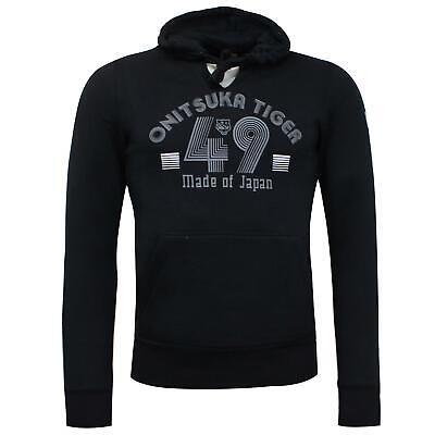 Asics Onitsuka Tiger Mens Hoodie 49 Sweatshirt Jumper Black 7761RL 0090