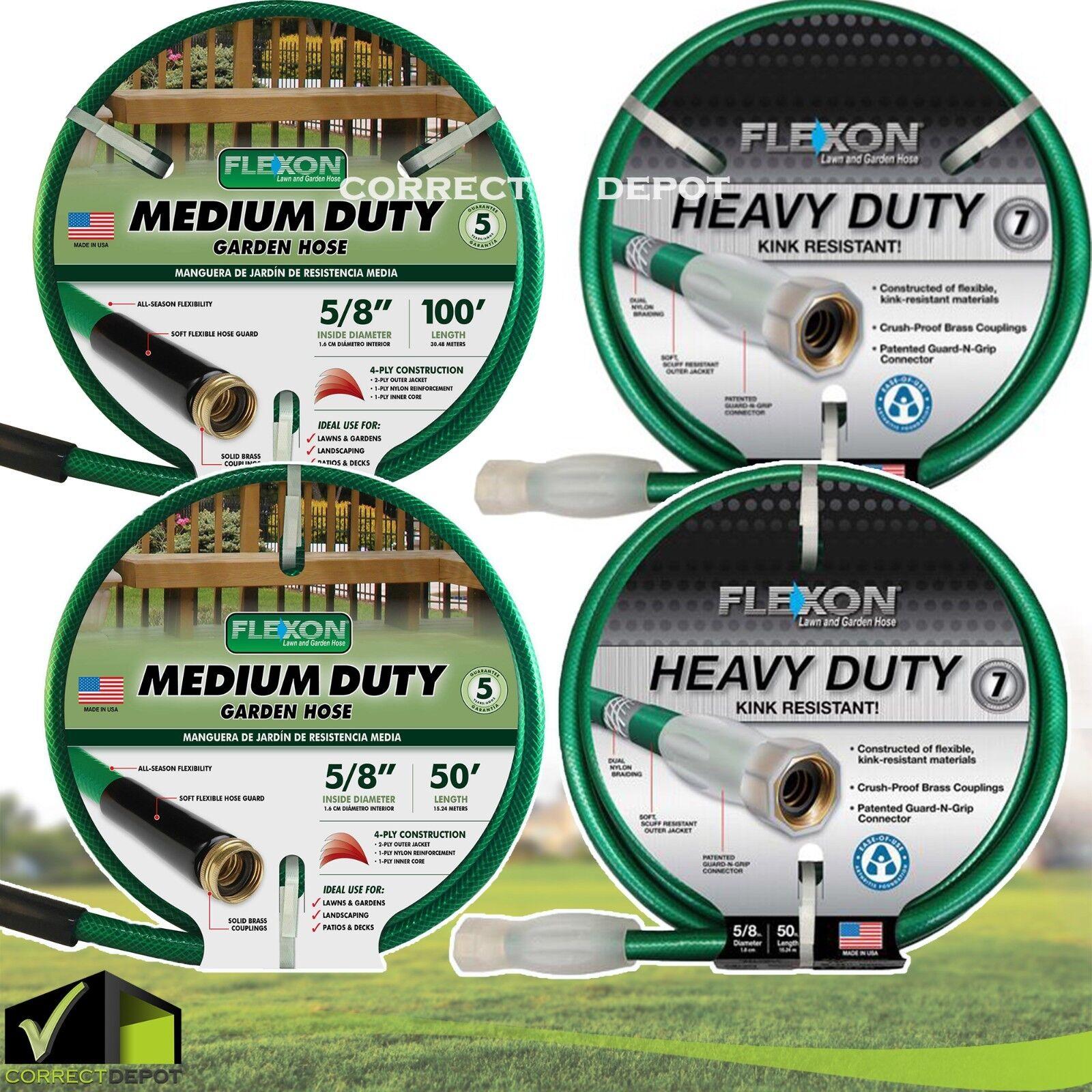 50-100' Heavy Duty Water Hose Lawn Garden Backyard Patio Fle