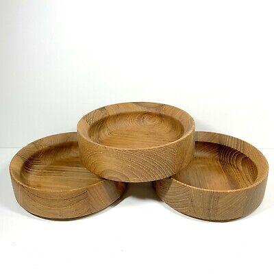 Dansk Designs 3 Individual Teak Salad Bowls Jens Quistgaard IHQ Mid Century