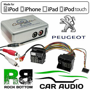 CTVPGX011 Peugeot 207 407 307 607 807 Car Aux In iPhone iPod Interface Adaptor