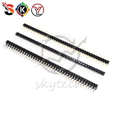 Header Strip Connector 40 Pin 2.54mm Round Malefemale Singledouble Straight