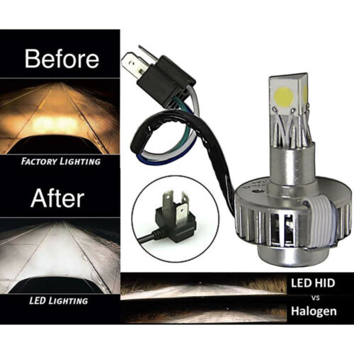 6500k H4  SMD COB 360° LED White Motorcycle Headlight HID Hi/Low Light Bulb