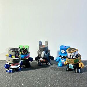 Kidrobot Fatcap Series 2 and 3 Vinyl Figurines (5 Total) - RARE