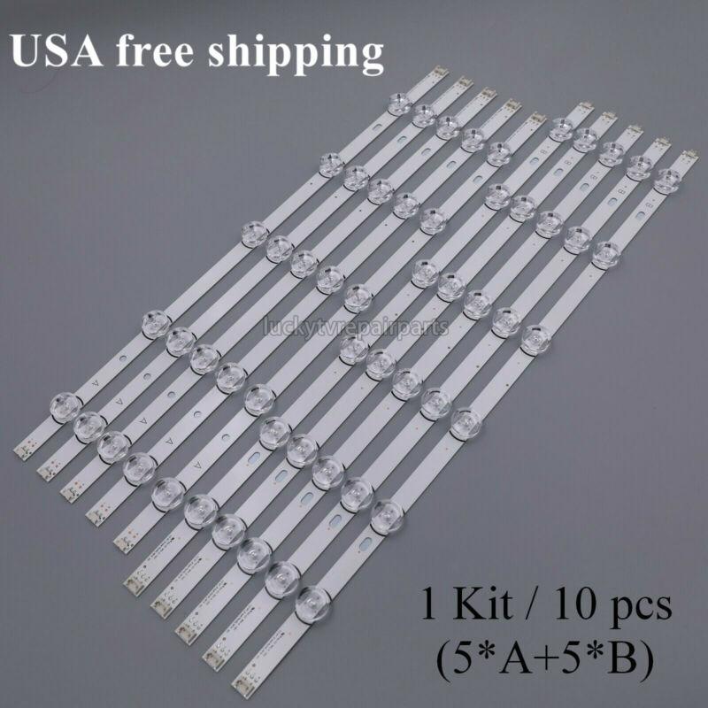 LED Backlight Strips (10) 55LB5900-UV 55LF6000-UB 55LF6100-UA for LG T550HVF04.2