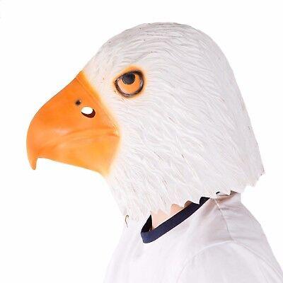Eagle Head Costume (Adult Funny Realistic Latex Eagle Animal Full Head Mask Costume Halloween)