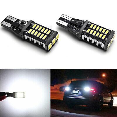 2x T10 T15 912 921 2835 Canbus Xenon White 6000K LED Backup Reverse Light Bulbs